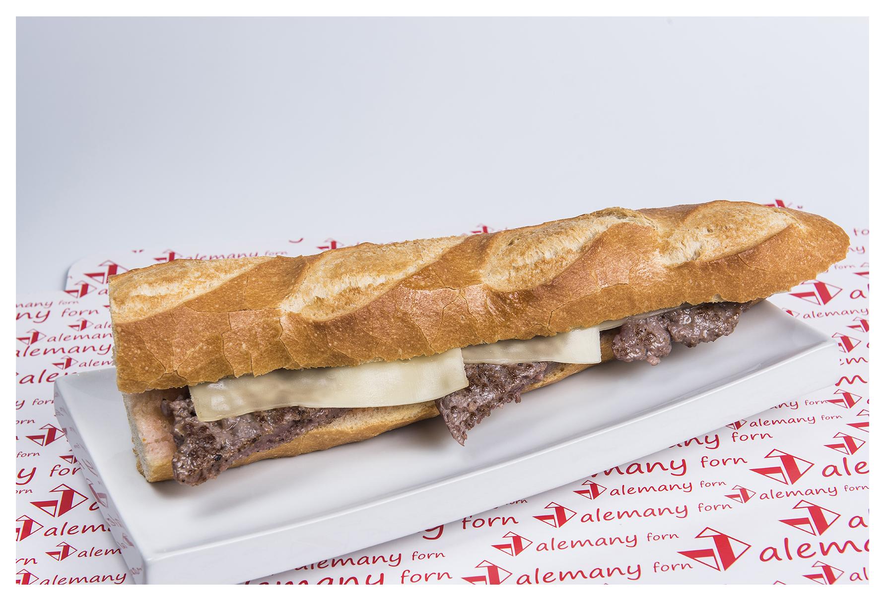 Entrepà d' hamburguessa amb formatge